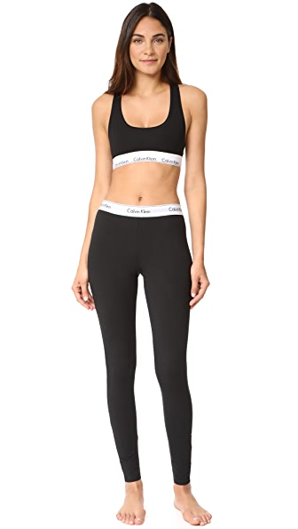Calvin Klein Underwear Modern Cotton 休闲文胸&贴腿裤套装