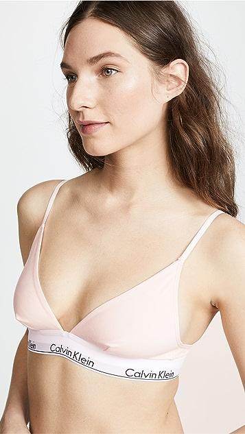 Calvin Klein Underwear 时尚棉质三角形无里衬文胸