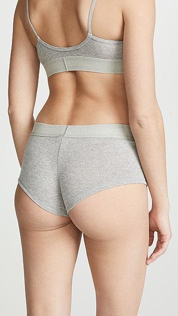 Calvin Klein Underwear 交织字母网面平角短裤