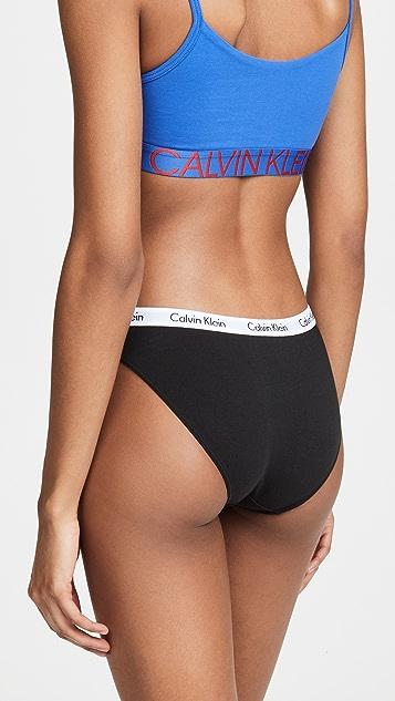 Calvin Klein 钢托文胸 Carousel 3 件套比基尼短裤