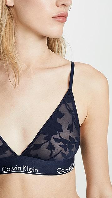 Calvin Klein Underwear 时尚棉质无衬里三角形休闲文胸
