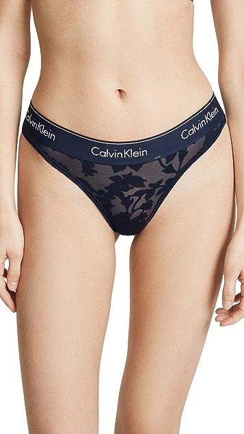 Calvin Klein 钢托文胸 时尚棉质丁字裤