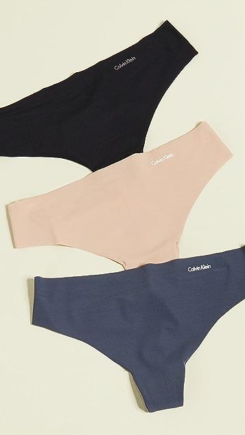 Calvin Klein Underwear 隐形 3 件式丁字裤