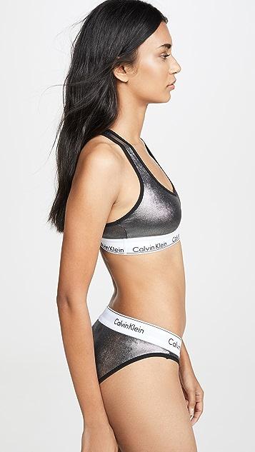 Calvin Klein 钢托文胸 时尚无衬里棉质休闲文胸