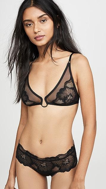 Calvin Klein Underwear 簇状蕾丝无衬里三角形文胸