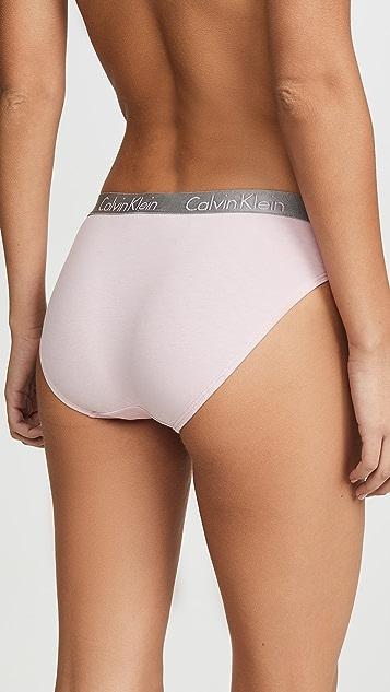 Calvin Klein Underwear Radiant 棉质比基尼短裤