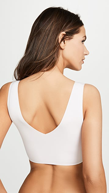 Calvin Klein 钢托文胸 薄衬里 V 领休闲文胸