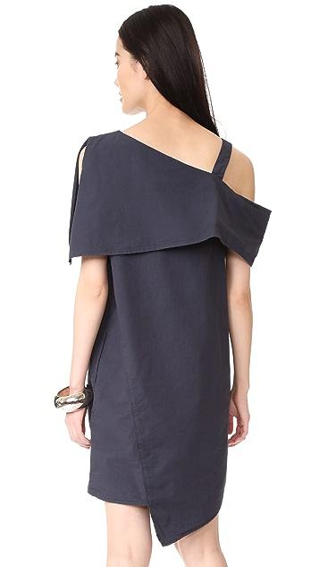 Clu 不对称露肩式连衣裙