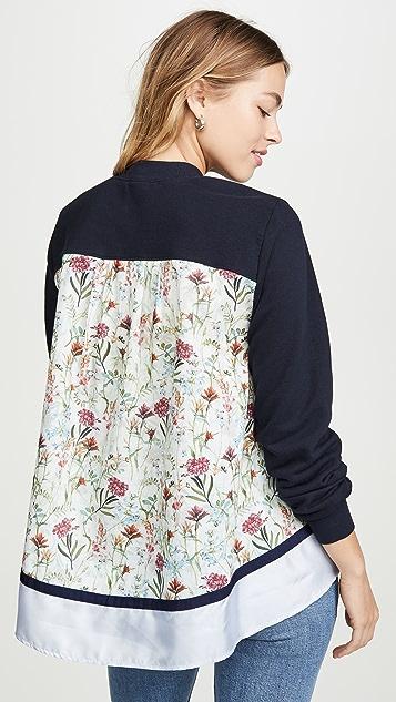 Clu 混合材质花卉套头衫