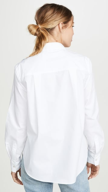Clu 撞色抽褶花朵衬衫