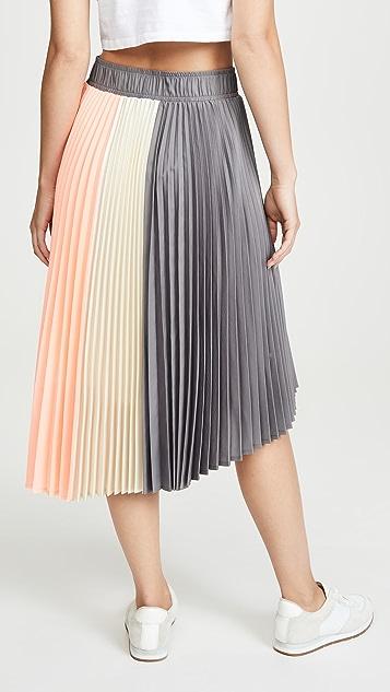 Clu 褶皱拼接半身裙