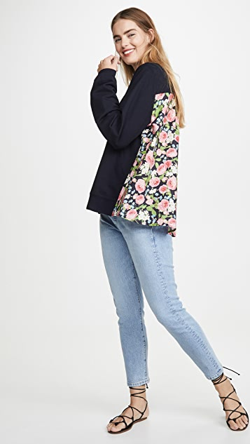 Clu 花卉拼接套头衫