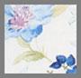 蓝色植物印花
