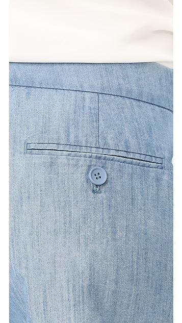 Club Monaco 黄褐色短裤