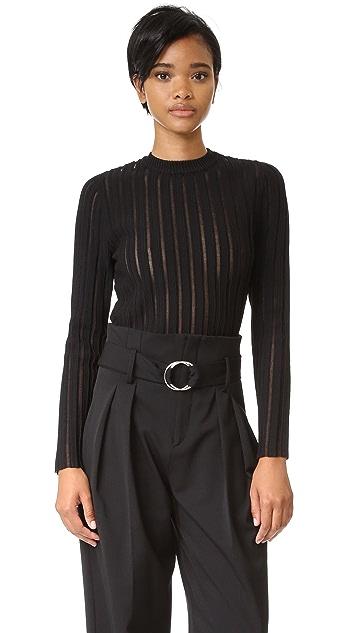 camilla and marc 透明条纹针织毛衣