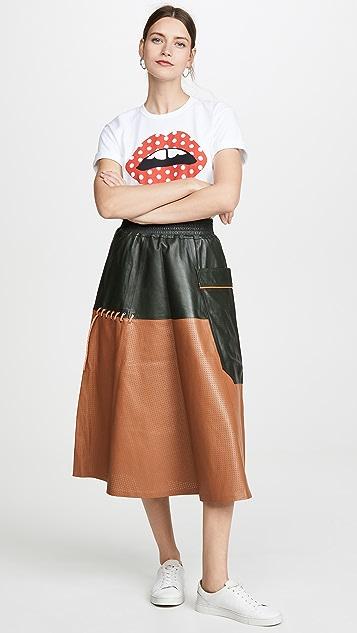 Mira Mikati 多孔皮半身裙