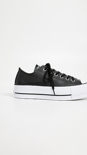 Converse Chuck All Star Lift Clean Ox 运动鞋