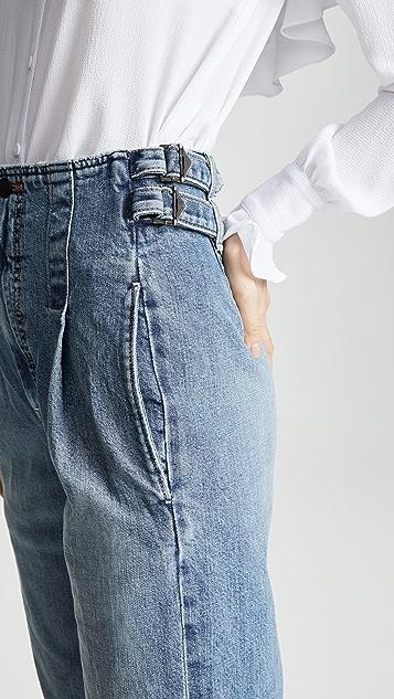 Colovos 复古搭扣裤子