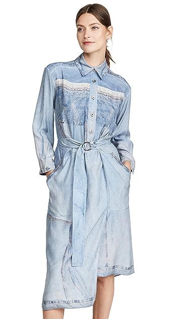 Colovos 真丝牛仔布连衣裙