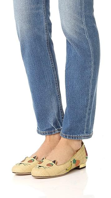 Charlotte Olympia 水果猫咪平底鞋