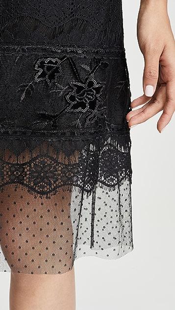 Costarellos 露肩直筒连衣裙