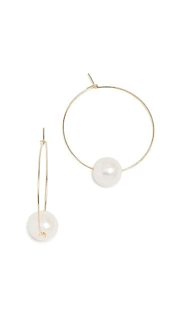 Cloverpost 淡水养殖珍珠圈式耳环