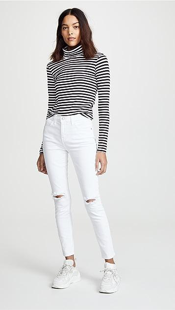 Current/Elliott 高腰小脚牛仔裤