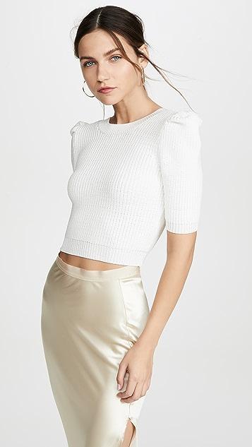 Cushnie 短款裥褶针织上衣
