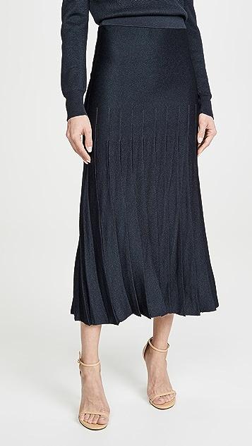 Cushnie 高腰褶皱针织半身裙