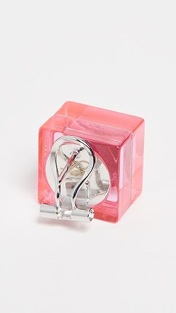 Diana Broussard Specchio Cube 耳环