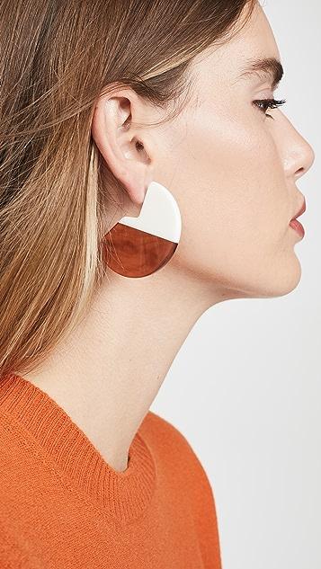 Diana Broussard Misto 双色圆片耳环