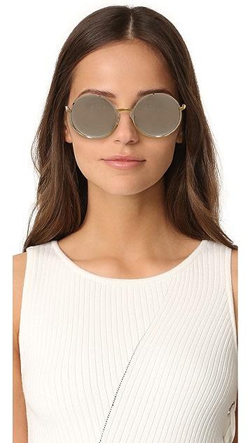 Dolce & Gabbana 圆形镜面太阳镜