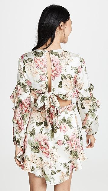 Divine Heritage 镂空长袖连衣裙
