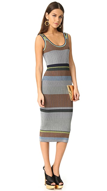 Diane von Furstenberg 无袖针织背心中长连衣裙