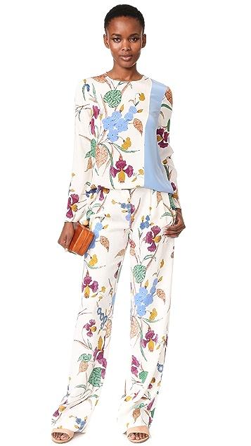 Diane von Furstenberg 长袖侧边开衩女式衬衫