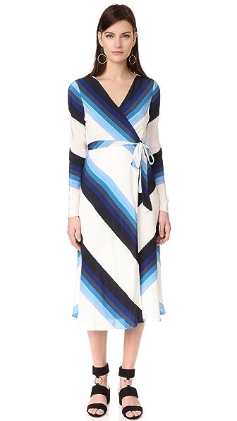 Diane von Furstenberg 长袖裹身裙