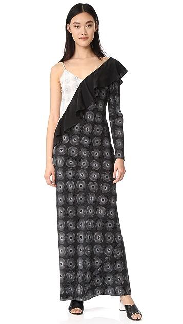 Diane von Furstenberg 不对称连衣裙