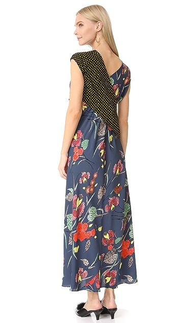 Diane von Furstenberg 垂坠皱褶荷叶边连衣裙