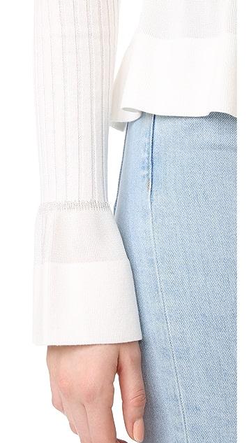 Diane von Furstenberg 针织腰型下摆上衣