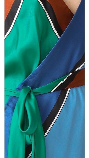 Diane von Furstenberg 围巾下摆层褶连衣裙