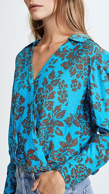 Diane von Furstenberg 有领女式衬衫