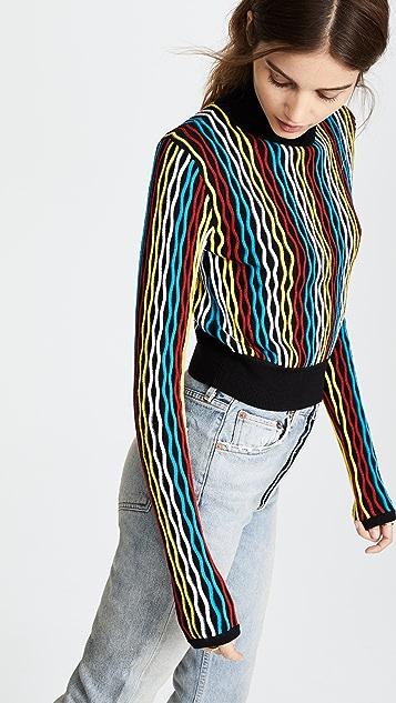 Diane von Furstenberg 短款高领套衫