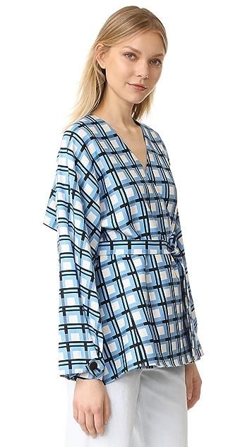 Diane von Furstenberg DVF 黛安 冯芙丝汀宝 裹身式前幅夹克