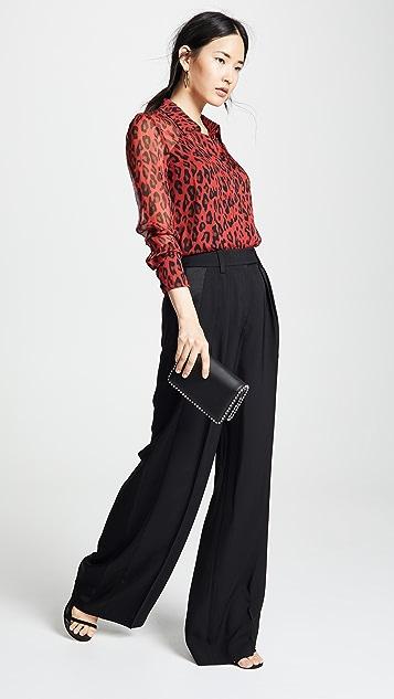 Diane von Furstenberg 长袖雪纺女式衬衫