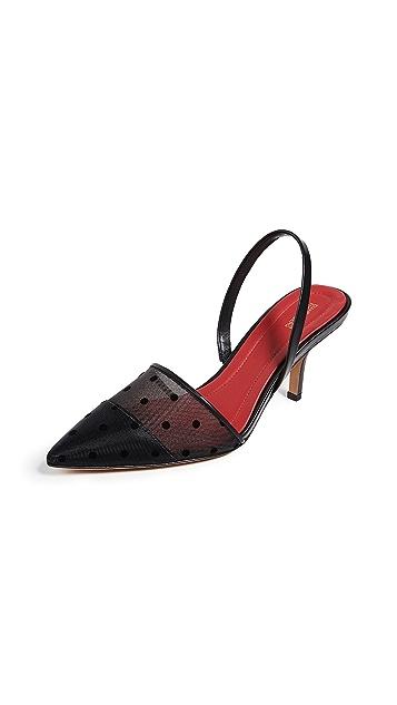 Diane von Furstenberg Mortelle 4 露跟浅口鞋