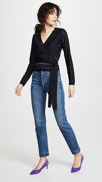 Diane von Furstenberg Laren 裹身式上衣