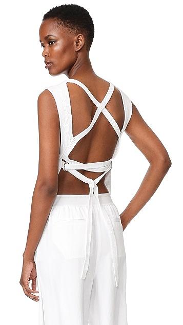 DKNY 绑带露背针织背心