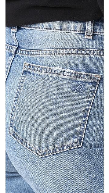 DL1961 Hepburn 高腰阔腿牛仔裤