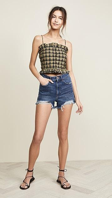 DL1961 Cleo 高腰短裤