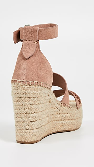 Dolce Vita Simi 编织底坡跟绑带凉鞋